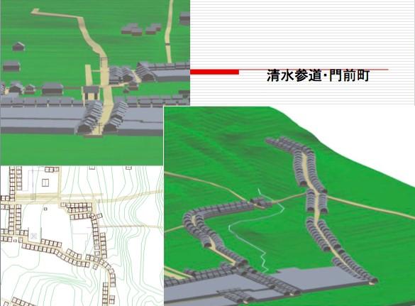 図4 清水寺参道付近の地形とまちの復元