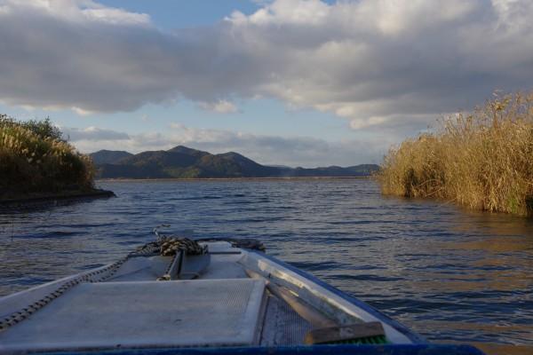 船上から見た西の湖